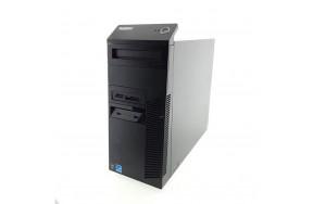 Б/У Системный блок Lenovo ThinkCentre M83/Tower/Intel Core i3-4130/2 ядра/4 потока/ОЗУ 4GB DDR3/жесткий диск отсутствует/1 x VGA, 2 x DP, 2 x USB 3.0, 4 x USB 2.0, 1 х LAN (RJ-45), 3 x аудио входа/выхода, 1 x COM/привод есть/280 Watt/Win8
