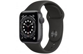 Смарт-часы Apple Watch Series 6 44mm Space Gray Aluminum Case with Black Sport Band (M07H3) / 1.57