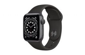 Смарт-часы Apple Watch Series 6 40mm Space Gray Aluminum Case with Black Sport Band (M02Q3) / 1.57