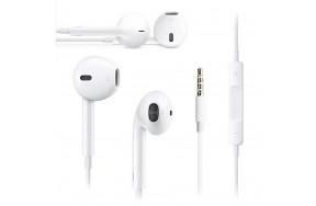 Гарнитура Apple EarPods with Remote and Mic с микрофоном / вкладыши / проводные / 1 x mini-jack разъем 3.5 мм / белый (MD827) NO RETAIL BOX (OEM)