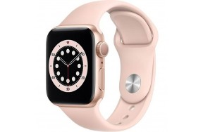 Смарт-часы Apple Watch Series 5 40mm Gold Aluminum Case with Pink Sand Sport Band (MWWP2) / 1.57