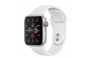 Смарт-часы Apple Watch Series 5 40mm Silver Aluminum Case with White Sport Band (MWWN2) / 1.57