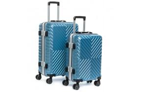 Комплект чемоданов PODIUM 2/1 ABS-пластик 07 голубой