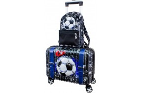 Чемодан DeLune Lune-004 детский с 3D изображением в комплекте с рюкзаком для мальчиков