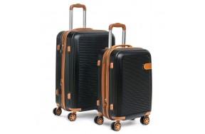 Комплект чемоданов PODIUM 2/1 ABS-пластик 8387 черный