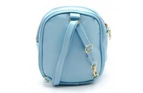 Cумка-рюкзак детская для девочек Cappuccino Toys  CT8281.277 в пайетках голубая