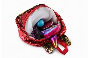 Рюкзак Fantasy Accessories Unicorn Единорог с пайетками для девочек красно-золотой (FA-shine01red)