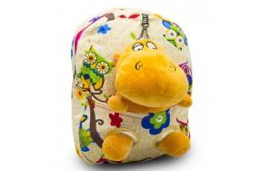 Детский дошкольный рюкзак  Cappuccino Toys CT2249.277-бегемотик бежевый