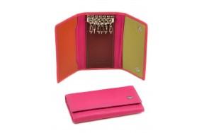Ключница DR. BOND WKR-2  женская кожаная розовая