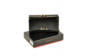 Кошелек   ALESSANDRO PAOLI W2155  женский кожаный черный