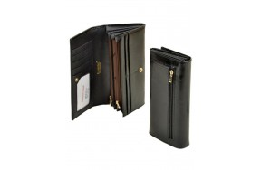 Кошелек  ALESSANDRO PAOLI W501 женский кожаный черный