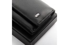 Кошелек  DR. BOND M6 мужской кожаный черный