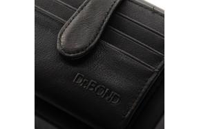 Кошелек  DR. BOND MV-3 мужской кожаный черный