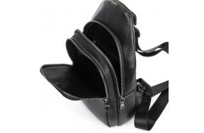 Рюкзак BRETTON BP 2002-3 на плечо мужской кожаный черный