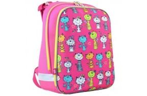 Рюкзак 1 Вересня Kotomaniya rose Н-12 школьный розовый
