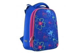 Рюкзак 1 Вересня Vivid Flowers H-12  школьный синий