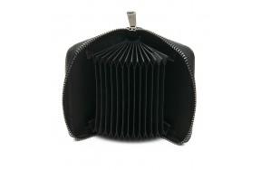 Кошелек визитница Baigou F3984-1 женский кожаный черный