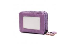 Кошелек визитница Baigou H863-3 женский кожаный фиолетовый