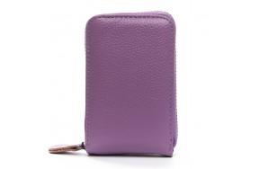 Кошелек визитница Baigou H862-3 женский кожаный фиолетовый