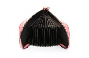 Кошелек визитница Baigou H862-5 женский кожаный розовый