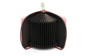Кошелек визитница Baigou F3984-5 женский кожаный розовый