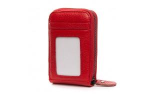 Кошелек визитница Baigou H862-2 женский кожаный красный