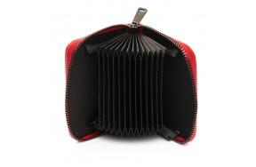 Кошелек визитница Baigou F3984-2 женский кожаный красный