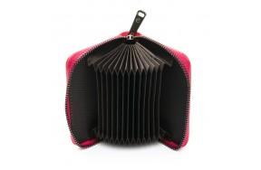 Кошелек визитница Baigou F3984-6 женский кожаный темно-розовый