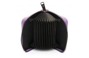 Кошелек визитница Baigou F3984-3 женский кожаный фиолетовый