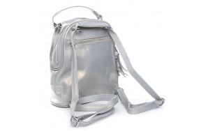 Рюкзак ALEX RAI 08-2 8695-2 женский кожаный серый