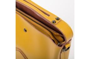 Сумка  ALEX RAI 03-02 8641 женская кожаная желтая