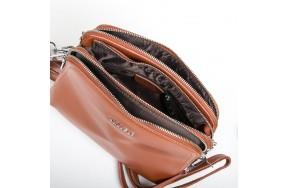 Сумка  женская кожаная ALEX RAI 9-01 8725 коричневая