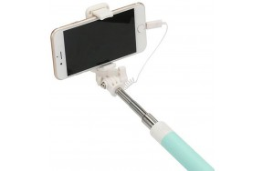 Монопод Usams US-ZB014 Small Mirror Lightning Head Selfie Stick Cyan