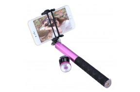 Монопод Noosy BR0802 Pro-2 bluetooth aluminum selfie stick Pink