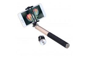 Монопод Noosy BR0802 Pro-2 bluetooth aluminum selfie stick Gold