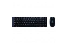 Комплект: клавиатура и мышь Logitech Wireless Combo MK220 Black