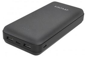 Портативная батарея AWEI P47K 20000mAh Power Bank Black