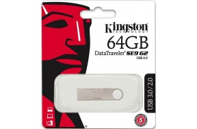 USB Flash Kingston DataTraveler SE9 G2 USB 3.0 64Gb Silver