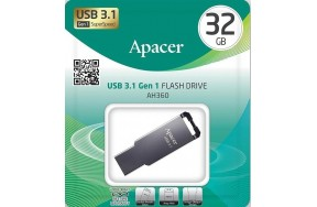 USB Flash Apacer AH360 USB3.1 32GB Metal Black