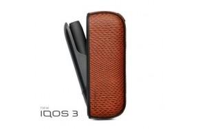 Чехол для IQOS Qlink Чехол для IQOS 3.0 / имитация змеиной кожи, Коричневый (2192111)